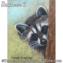 Raccoon 2 (Colored Pencil) Painting Pattern PDF DOWNLOAD Painting Pattern - Pat Lentine