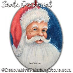 Santa Ornament (Colored Pencil) Painting Pattern PDF DOWNLOAD Painting Pattern - Pat Lentine
