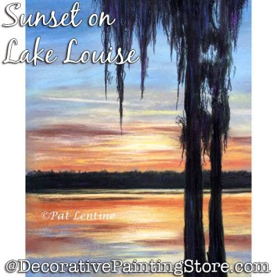 Sunset on Lake Louise (Pastel) Painting Pattern PDF DOWNLOAD Painting Pattern - Pat Lentine