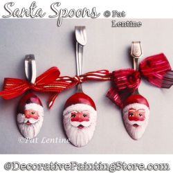 Santa Spoons DOWNLOAD Painting Pattern - Pat Lentine