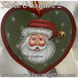 Santa Ornament 2 (Colored Pencil) Painting Pattern PDF DOWNLOAD Painting Pattern - Pat Lentine