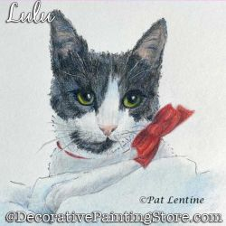 Lulu (Cat Colored Pencil) Painting Pattern PDF DOWNLOAD Painting Pattern - Pat Lentine