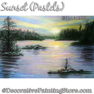 Sunset (Pastel) DOWNLOAD Painting Pattern - Pat Lentine