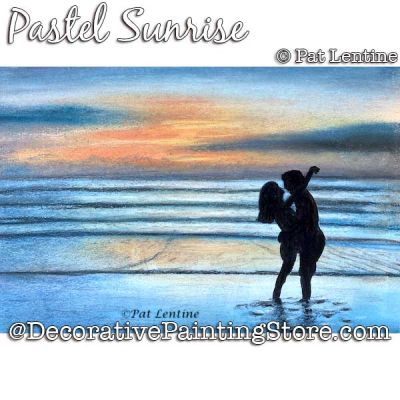 Pastel Sunrise DOWNLOAD Painting Pattern - Pat Lentine