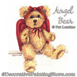 Angel Bear (Colored Pencil) Painting Pattern PDF DOWNLOAD Painting Pattern - Pat Lentine