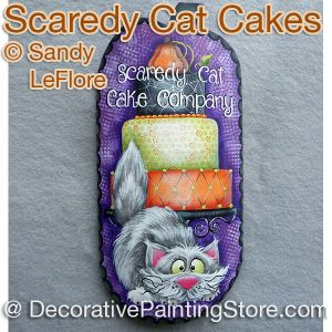 Scaredy Cat Cakes ePattern - Sandy LeFlore - PDF DOWNLOAD