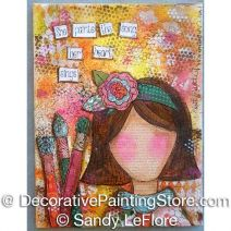 She Paints ePattern - Sandy LeFlore - PDF DOWNLOAD