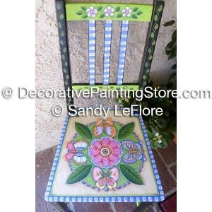 Butterflies and Bloom Chair ePattern - Sandy LeFlore - PDF DOWNLOAD