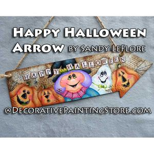 Happy Halloween Arrow ePattern - Sandy LeFlore - PDF DOWNLOAD