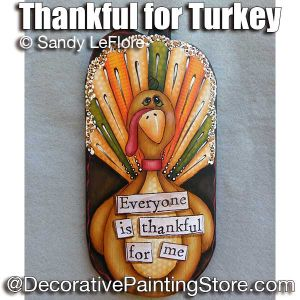 Thankful for Turkey ePattern - Sandy LeFlore - PDF DOWNLOAD