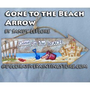 Gone to the Beach Arrow ePattern - Sandy LeFlore - PDF DOWNLOAD