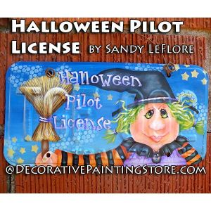 Halloween Pilot License ePattern - Sandy LeFlore - PDF DOWNLOAD