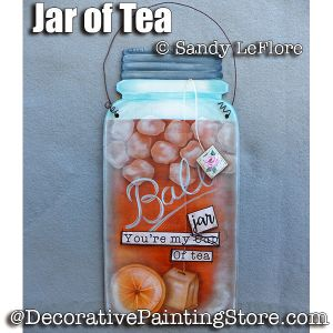 Jar of Tea ePattern - Sandy LeFlore - PDF DOWNLOAD