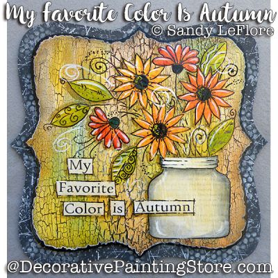 My Favorite Color Is Autumn ePattern - Sandy LeFlore - PDF DOWNLOAD