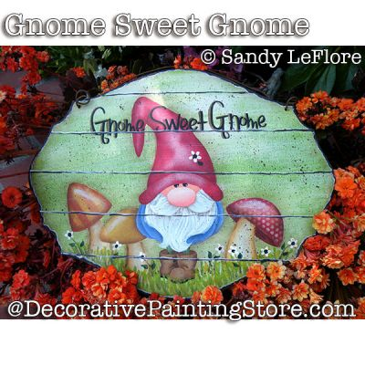 Gnome Sweet Gnome ePattern - Sandy LeFlore - PDF DOWNLOAD
