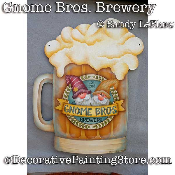 Gnome Bros. Brewery ePattern - Sandy LeFlore - PDF DOWNLOAD