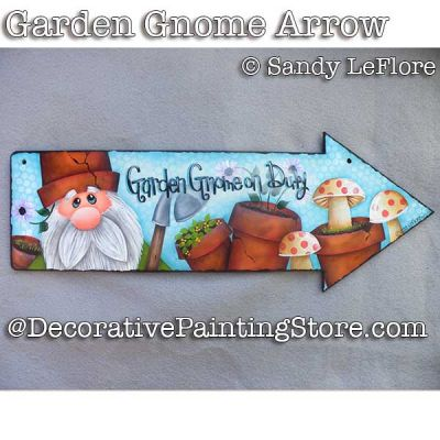 Garden Gnome Arrow ePattern - Sandy LeFlore - PDF DOWNLOAD