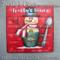 Frostys Diner Painting Pattern PDF DOWNLOAD - Sandy LeFlore