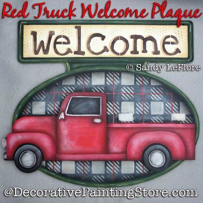 Red Truck Welcome Plaque DOWNLOAD - Sandy LeFlore