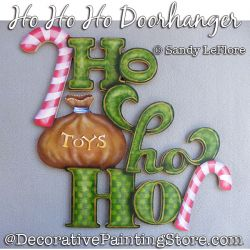 Ho Ho Ho Door Hanger Painting Pattern PDF DOWNLOAD - Sandy LeFlore