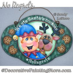 No Regrets (Christmas Elf and Reindeer) Painting Pattern PDF DOWNLOAD - Sandy LeFlore