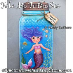 Take Me to the Sea (Mermaid) Painting Pattern PDF DOWNLOAD - Sandy LeFlore