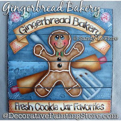 Gingerbread Bakery Painting Pattern PDF DOWNLOAD - Sandy LeFlore