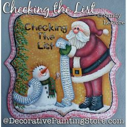 Checking the List (Santa) Painting Pattern PDF DOWNLOAD - Sandy LeFlore