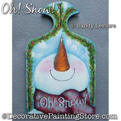 Oh Snow Painting Pattern PDF DOWNLOAD - Sandy LeFlore