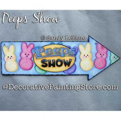 Peeps Show Arrow Sign Painting Pattern PDF DOWNLOAD - Sandy LeFlore