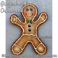 Gingerbread Ornament Painting Pattern PDF DOWNLOAD - Sandy LeFlore
