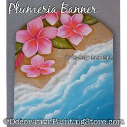 Plumeria Banner Painting Pattern PDF DOWNLOAD - Sandy LeFlore