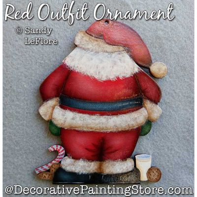 Red Outfit Ornament (Santa) Painting Pattern PDF DOWNLOAD - Sandy LeFlore