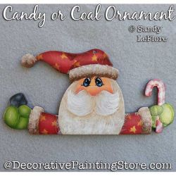 Candy or Coal Ornament (Santa) Painting Pattern PDF DOWNLOAD - Sandy LeFlore