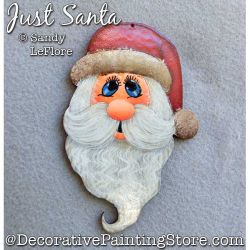 Just Santa Ornament Painting Pattern PDF DOWNLOAD - Sandy LeFlore