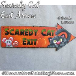 Scaredy Cat Exit Arrow Sign Painting Pattern PDF DOWNLOAD - Sandy LeFlore