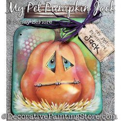 My Pet Pumpkin Jack Painting Pattern PDF DOWNLOAD - Sandy LeFlore