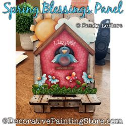 Spring Blessings Panel Painting Pattern PDF DOWNLOAD - Sandy LeFlore