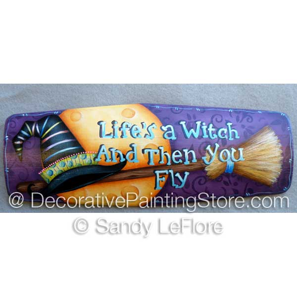 Lifes a Witch- Mixed Media ePattern - Sandy LeFlore - PDF DOWNLOAD