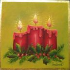 Christmas Candles Pattern - Lonna Lamb - PDF DOWNLOAD