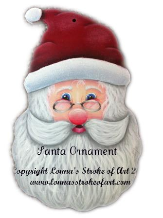 Santa Ornament Pattern - Lonna Lamb - PDF DOWNLOAD