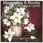 Magnolias and Books Pattern - Lonna Lamb - PDF DOWNLOAD