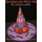 Spooktacular Witch Hat Pattern - Lonna Lamb - PDF DOWNLOAD