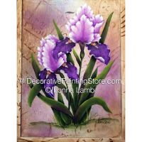 Iris in Bloom Box Pattern - Lonna Lamb - PDF DOWNLOAD
