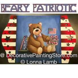 Beary Patriotic Pattern - Lonna Lamb - PDF DOWNLOAD