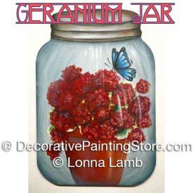 Geraniums in a Jar Pattern - Lonna Lamb - PDF DOWNLOAD