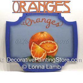 Oranges Pattern - Lonna Lamb - PDF DOWNLOAD
