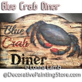 Blue Crab Diner Pattern - Lonna Lamb - PDF DOWNLOAD
