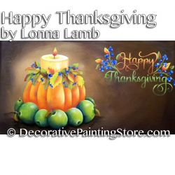 Happy Thanksgiving Pattern - Lonna Lamb - PDF DOWNLOAD