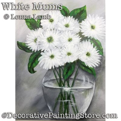 White Mums DOWNLOAD - Lonna Lamb